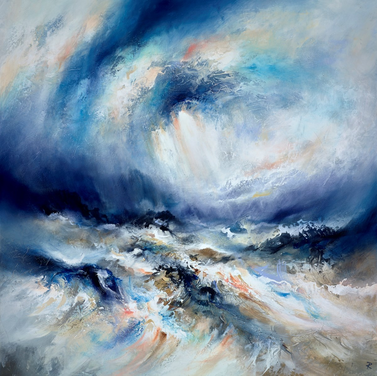 Battle of the Sea by chris and steve rocks -  sized 47x47 inches. Available from Whitewall Galleries